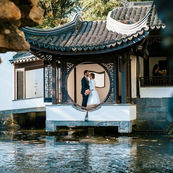Hochzeitsfotografie botanischer garten ruhr uni